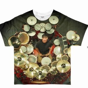 Other - Neil Peart Rush Drummer 2 Sided Graphic T M/L